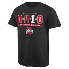 Ohio State Buckeyes Black 2014 College Football Playoff National Champions OH1O T-Shirt