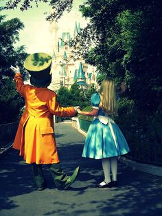 Alice and The Mad Hatter. Everyone loves seeing the characters explore Disneyland