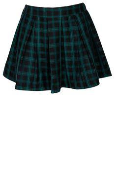 Fashion Union Green Tartan Skirt