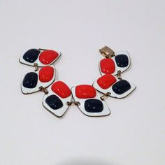 Hey, I found this really awesome Etsy listing at https://www.etsy.com/listing/243570698/red-white-and-blue-enamel-bracelet
