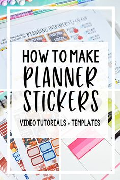 Learn how to make planner stickers using a Silhouette machine, including where to find fonts and graphics for commercial use, how to design, print, and cut planner stickers for personal use or to sell in a shop.