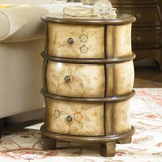 Hammary Hidden Treasures Round Accent Chest, offered by Online Store, Inc., browse our great selection of Accent Chests Round Nightstand, Dresser As Nightstand, Nightstands, Bedside Tables, New Furniture, Painted Furniture, Accent Chests And Cabinets, Painted Drawers, Trunks And Chests