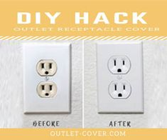 Now that you have repainted, update your outlet color using our Outlet Covers in 3 easy steps: Step Turn off power Step Remove wall plate and add cover Step Reinstall wall plate. Bathroom Renovations, Home Renovation, Bedroom Inspiration, Style Inspiration, House Flippers, Color Trends 2018, Basement Makeover, Ace Hardware, Outlet Covers