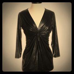 Jones New York black metallic blouse Jones New York black metallic blouse Jones New York Tops Blouses