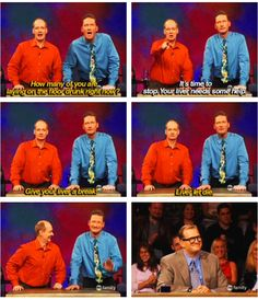 Whose Line. I love it when they laugh! Funny Cute, The Funny, Hilarious, Whose Line, Laughing So Hard, New People, Puns, Comedians, Favorite Tv Shows