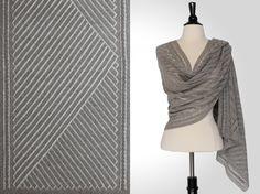 Steve Rousseau Designs • Ivo Rectangular Shawl • Knitting Pattern • Shibui Knits Pebble Ash