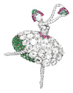 Os Broches Ballerina e Fairy dos anos 1940 - Peças Históricas - Van Cleef & Arpels Van Cleef Arpels, Van Cleef And Arpels Jewelry, George Balanchine, Sharon Stone, Ballerine Vintage, Beauty Van, Benjamin Millepied, Antique Jewelry, Emeralds