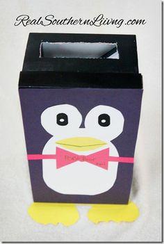 Make a Penguin Valentine MailBox RealSouthernLiving.com