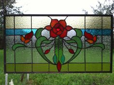 Utterly gorgeous stained glass window panel (original pinner made for her mother's vacation home--what a LUCKY Mom!)