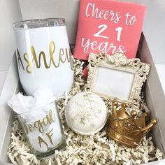 Birthday Ideas Discover Gift for 21 year old birthday birthday gift for her college birthday gift for her legal AF twenty fun cheers to 21 Gift for 21 year old birthday birthday gift for her college birthday gift for her legal AF twenty fun cheers to 21 Mom Birthday Gift, 21st Birthday Gifts For Best Friends, 21st Birthday Basket, 21st Birthday Presents, Birthday Gift Baskets, 21st Gifts, Best Friend Gifts, Birthday Cheers, 21st Birthday Crafts