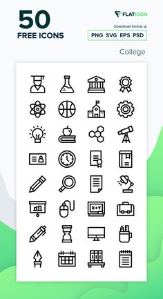 50 College icons for personal and commercial use. Basic Straight Lineal icons. Download now free icon pack from Flaticon, the largest database of free vector icons. #Flaticon #icons #teacher #education #school #college