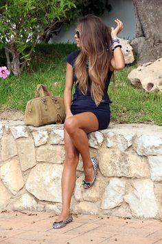Subtle brown ombre.