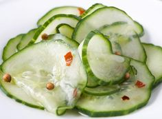 I love cucumber salad.