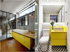 Simplesmente Decor: Gabinete de Banheiro Colorido