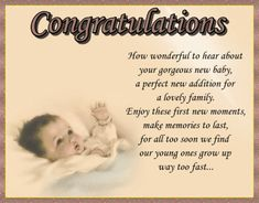 A sweet congratulations card to welcome a new addition. Free online Make Memories To Last ecards on Congratulations Congratulations To You, New Baby Cards, Big Hugs, Name Cards, New Parents, New Job, Card Sizes, Friends In Love, Mom And Dad