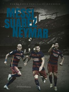 Edit: Messi, Neymar and Suarez #fcblive [by @riolovebarca]