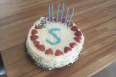Happy 6th birthday Strawberry & white chocolate cake