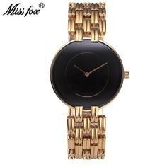 dfe840196d1 41mm Black Minimalist Watch Super Slim Cheap Womens Watches Water Resistant  Wristwatch Simple Clock