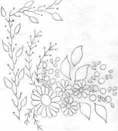 Patrones de flores para bordar a mano - Imagui