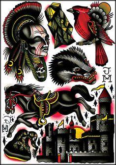 James McKenna Flash sheet #2 James Mckenna, Sailor Fashion, Tattoo Flash, Body Modifications, Body Mods, Painting & Drawing, Spiderman, Deep, Ink