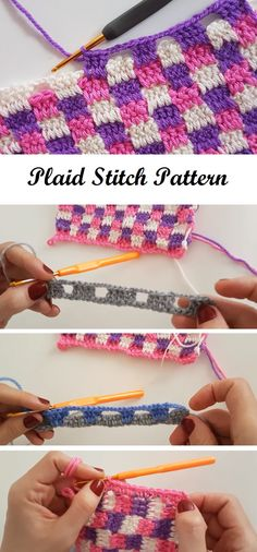 Crochet Plaid Stitch - Design Peak