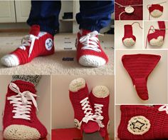 Converse Slippers--great pic tutorial!  Looks pretty easy, too