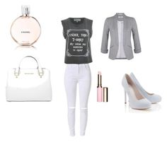 """""""set3"""" by mujo-ziba ❤ liked on Polyvore featuring Wildfox, Miss Selfridge, Lipsy, Chanel, Michael Kors and Clarins"""