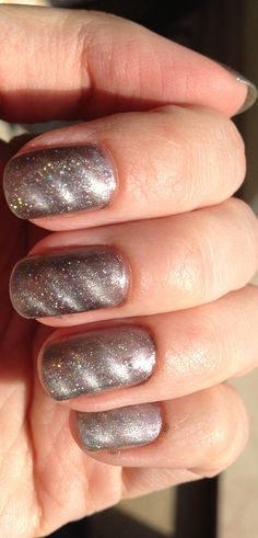 nail art - OPI magnetic nails with added sparkle