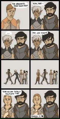 I always want to help the mages so I literally do the same thing. Kick Fenris out and bring Anders in!