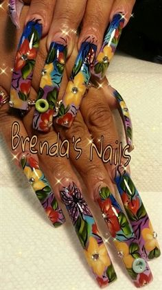Long nails by bliz430 - Nail Art Gallery nailartgallery.nailsmag.com by Nails Magazine www.nailsmag.com #nailart