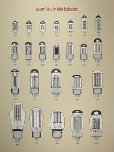 P Doogan Art and Design — Vacuum Tubes for Audio Applications - Art Print: