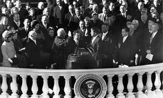 Oath Of OfficeJohn F. Kennedy takes the Oath of Office for President of the United States in January 1960. (Photo by National Archive/Newsmakers