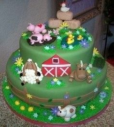 Great cake. Just needs a tractor