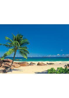 WALLPOPS! Komar Seychellen Wall Mural Beach Scene