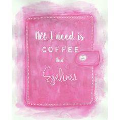 Watercolor Fluro pink Filofax Dashboard. by SahilysDesigns