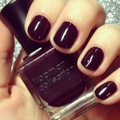 Dark Side Of The Moon - not quite black - more of a deep aubergine - great for short nails