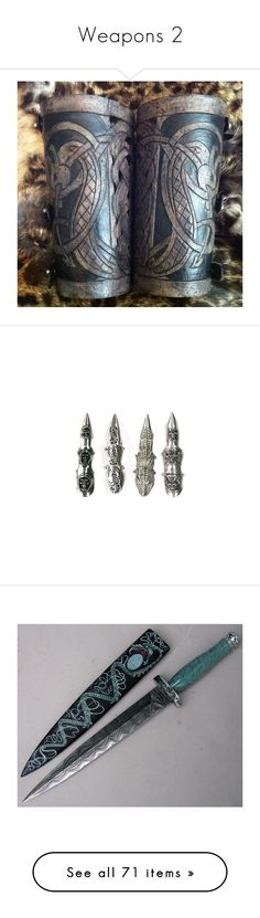 """""""Weapons 2"""" by madsreading ❤ liked on Polyvore featuring jewelry, rings, accessories, fillers, weapons, goth rings, gothic rings, gothic jewellery, gothic jewelry and finger armor ring"""