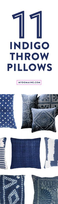 Throw pillows to dress up your sofa with