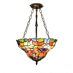 TR Solar Spring Bouquet - Creative Candy Color Tiffany Hanging Lamp by TR Solar - 150 GBP - 2x 60W bulbs