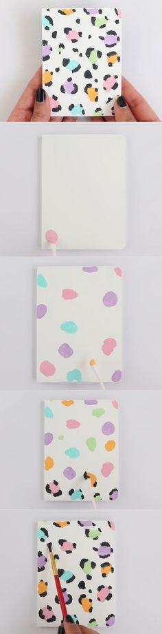 Leopard Print|Nim C #diy_cuadernos_decorados