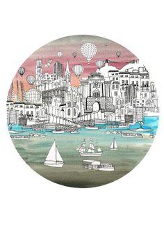 A5 Print... 'Round Bristol by HarrietPopham on Etsy, £8.00