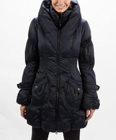 Look at this #zulilyfind! Midnight Paris Puffer Coat #zulilyfinds