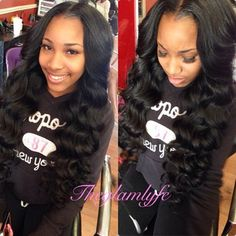 middle part sew in weave