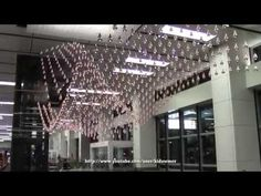 ▶ Kinetic Rain Sculpture(full display) Singapore - World's Largest Moving Sculpture - YouTube
