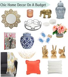 Chic and affordable home decor for decorating on a budget