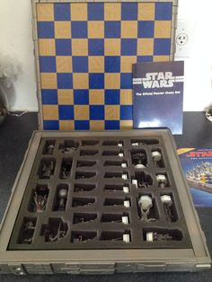 RARE STAR WARS DANBURY MINT PEWTER CHESS SET 1993 COMPLETE