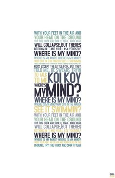 #Lyrics for #Pixies 'Where Is My Mind?' Writer(s): Black Francis. Released; 1988.by nanablanco on deviantART