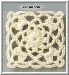 Luty Artes Crochet: Square em crochê .