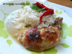 """Kuře """"ala bažant"""" Diabetes, Grains, Meat, Chicken, Diabetic Living, Buffalo Chicken, Rooster"""