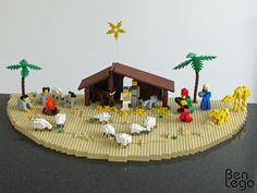 Nativity Scene of Lego with detailed instructions.